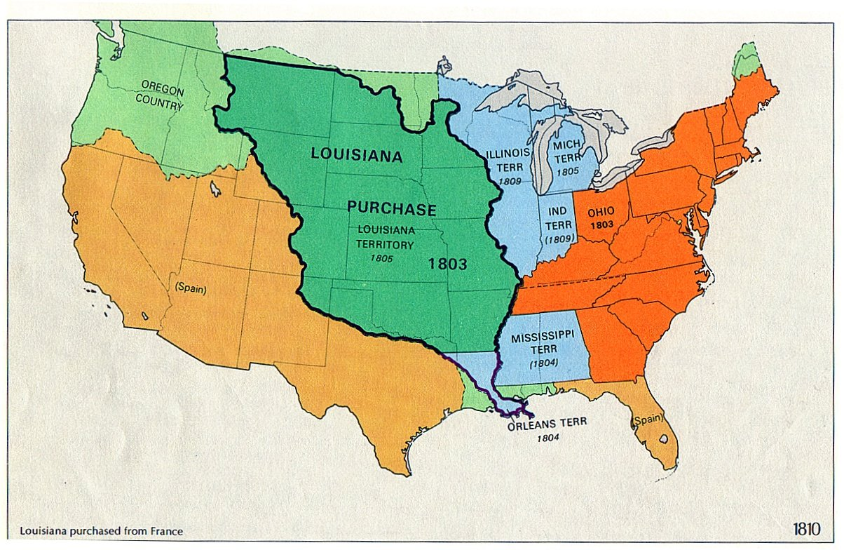 Louisiana Purchase - Louisiana on the us map